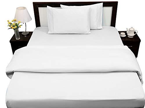 Rajlinen Juego de sábanas de 100% algodón egipcio de 400 hilos, tamaño queen, resistente a las arrugas, a...