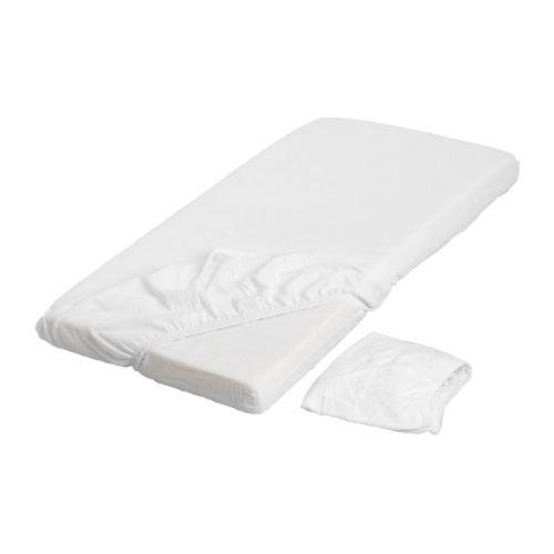 Ikea Lena - Juego de 2 sábanas para Cama Infantil (120 x 60 cm, con Banda de Goma, 100% algodón), Color...