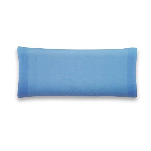 Sancarlos - Funda de almohada para cama, 100% Algodón percal, Color azul, 75 cm