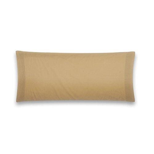 Sancarlos - Funda de almohada para cama, 100% Algodón percal, Color marrón, 75 cm