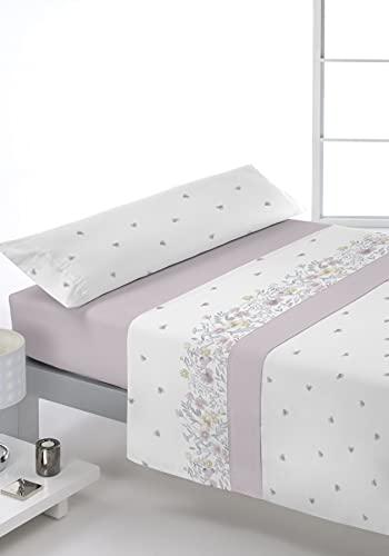 Juego de sábanas Estampado 3/Piezas Modelo: LUWEL, Color: 02, Medida: Cama de 150x190/200cm.