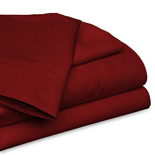 600 TC Super Comforting 100% algodón egipcio, sábana bajera ajustable de 38 cm de profundidad para cama...