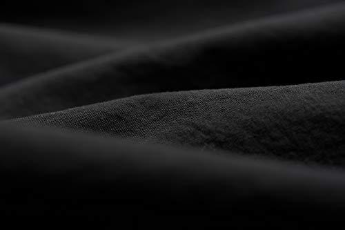 L1NK STUDIO Sabana encimera Lisa Cama 90 cm (160X280cm) 100% algodón (Percal 200 Hilos) Negro