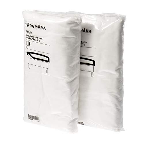 Ikea FARGMARA - Juego de 2 sábanas de 90 x 190 cm, color blanco