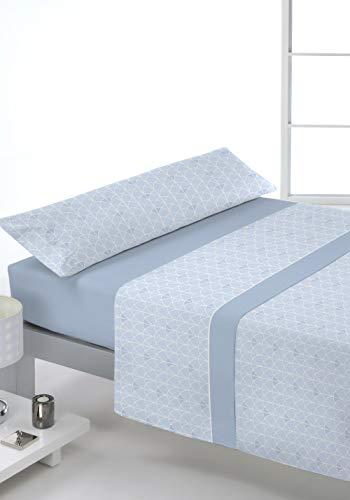 Reig Marti Juego DE SÁBANAS CORALINA 3 Piezas, Modelo: Jetty, Color: 03-Azul, para Cama DE 90x190/200cm.
