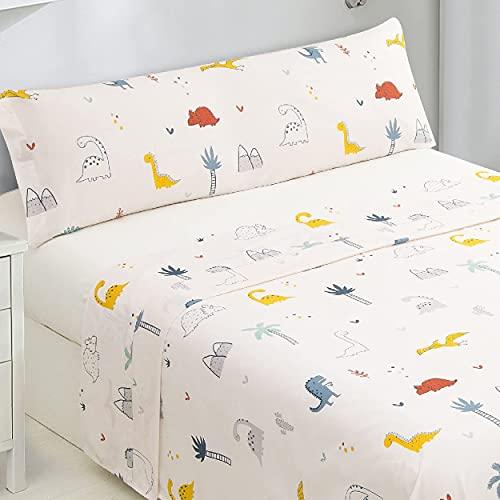 Dalina Textil Juego de Sábanas Infantil para Cama 3 Piezas - 1 Sábanas Bajera Ajustable Cama 90cm con...