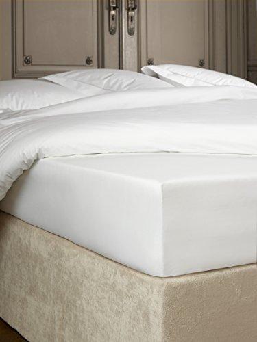 De Witte Lietaer Bumblebee sábana Bajera percal Luxe, algodón, Blanco, 180x 200x 40cm