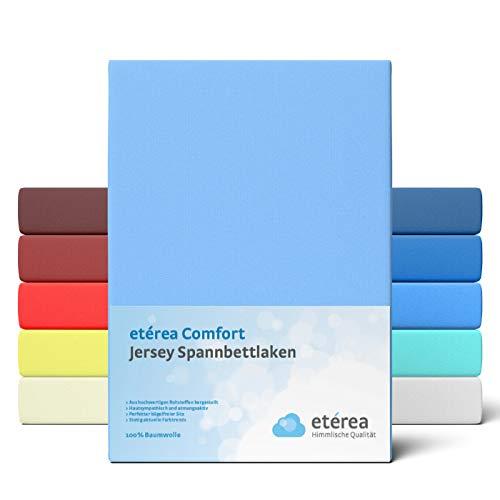 Etérea Comfort - Sábana bajera ajustable (90 x 200 hasta 100 x 200 cm, 100% algodón, sábana bajera de 25...