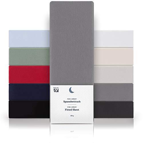 Blumtal Basics Sábana Bajera Ajustable 100% Algodón - Sábana para colchón de hasta 25 cm de Altura, 180 x...