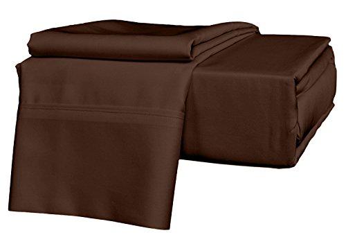 Juego de sábanas de 600 hilos, ultra suave, 100 % algodón egipcio, 4 piezas, 15 cm de profundidad, tamaño...