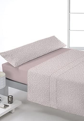 Juego de sábanas Estampado 3/Piezas Modelo: LACCIO, Color: 02 Rosa, Medida: Cama de 135x190/200cm.