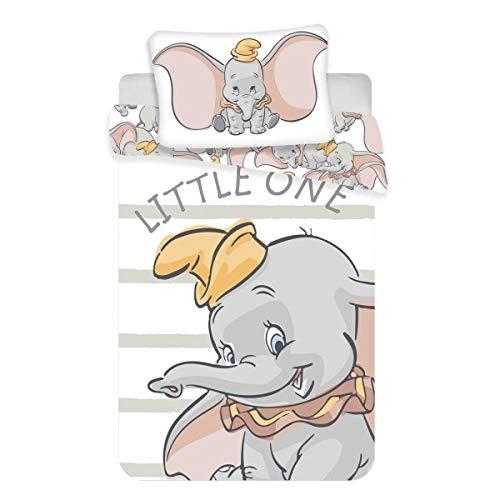 Juego de ropa de cama para bebés Dumbo, 2 piezas 100% algodón, tamaño: 100x 135cm, 40x 60cm,...