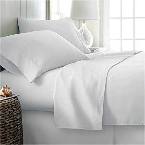 Kotton Culture Bed Sheet Set Double Size with 38 cm Deep Pocket Fitted Sheet, 600 Thread Count Silky Soft...