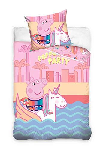 TipTrade DHestia Peppa Pig pp187002 - Juego de Cama (160 x 200 cm y 70 x 80 cm), Color Rosa