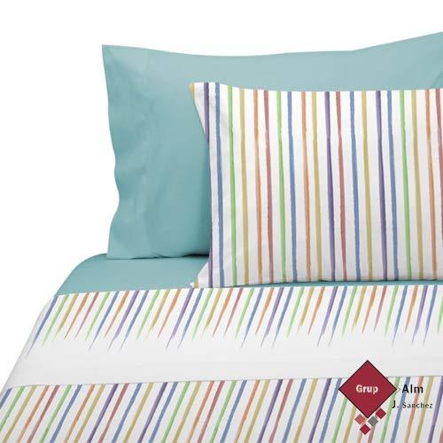 Manterol Juego DE SÁBANAS Colors 247 Rayas (Cama 105 cm.)