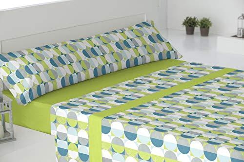 El Barco Deco Sabanas algodón 50% Poliester, Verde, 150x190, 16