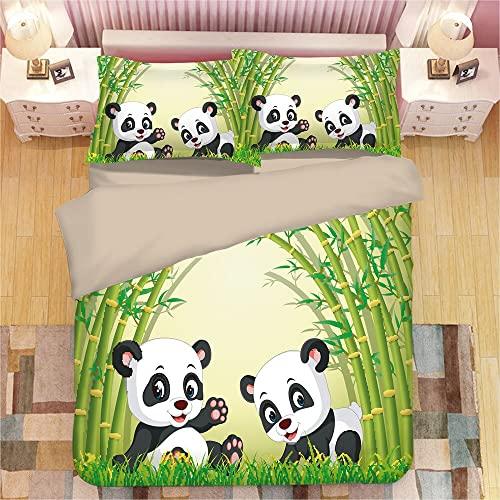 Panda Juego De Cama Funda Nórdica Funda De Almohada Edredón Nuevo Juego De Cama Sábanas 135 * 200 Cm 3