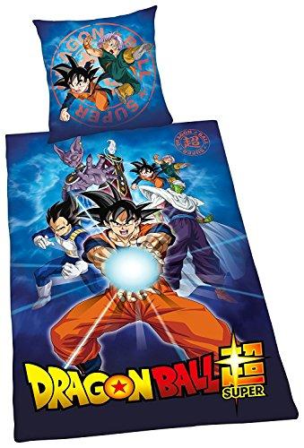 Herding Dragon Ball Super - Juego de Cama (Funda nórdica de 135 x 200 cm y Funda de Almohada de 80 x 80 cm,...