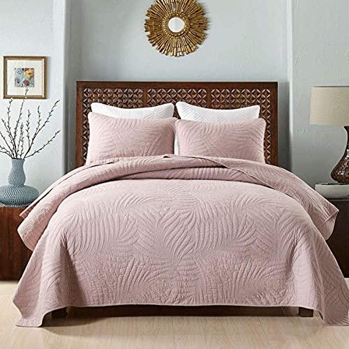 100% algodón crudo colchas acolchadas edredón 3 piezas decoración de ropa de cama funda de cama doble...