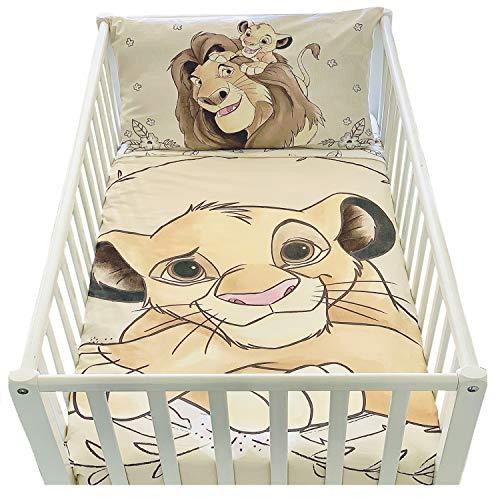 Funda nórdica de 100 x 135 cm y funda de almohada de 40 x 60 cm | Juego de cama de El rey león para cama de...