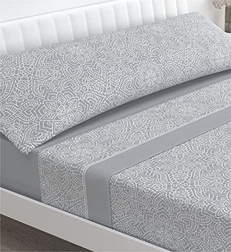 Victorio & Lucchino Juego de sábanas coralina - Modelo Beverly (Gris, 150 cm)
