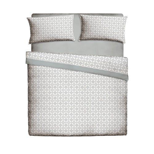 Pikolin Home, Juego de sábanas de cama 50% algodón y 50% poliéster estampadas, que incluye sábana...