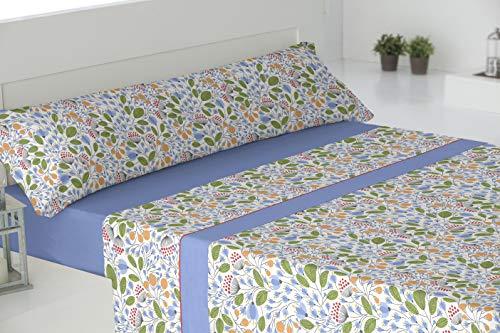 El Barco Bosque Sabanas algodón 50% Poliester, Azul, 150x190, 16